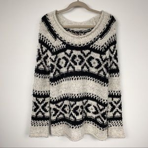 Free People Chunky Oversized Knit Sweater